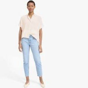 Everlane Square Silk Blouse Size 4 OUT OF STOCK